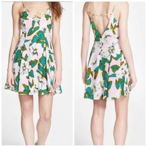 Urban Outfitters Tropical Floral Strappy Dress XS